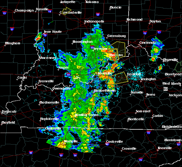 Radar Image for Severe Thunderstorms near Frankfort, KY at 5/20/2017 7:37 PM EDT