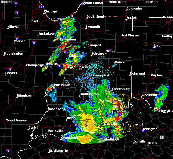 Radar Image for Severe Thunderstorms near Versailles, IN at 5/20/2017 7:46 PM EDT