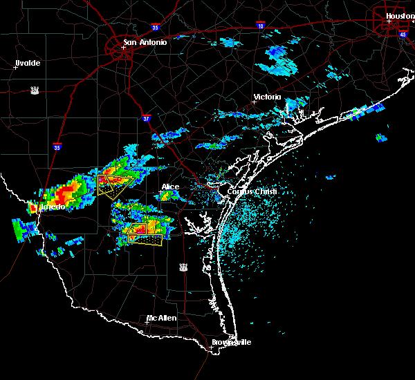 Radar Image for Severe Thunderstorms near Freer, TX at 5/20/2017 6:59 PM CDT