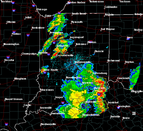 Radar Image for Severe Thunderstorms near Frankfort, IN at 5/20/2017 8:08 PM EDT