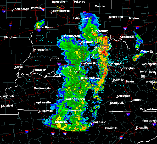 Radar Image for Severe Thunderstorms near Frankfort, KY at 5/20/2017 8:15 PM EDT