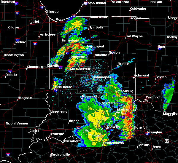Radar Image for Severe Thunderstorms near Frankfort, IN at 5/20/2017 8:18 PM EDT