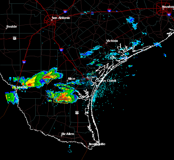 Radar Image for Severe Thunderstorms near Freer, TX at 5/20/2017 7:21 PM CDT