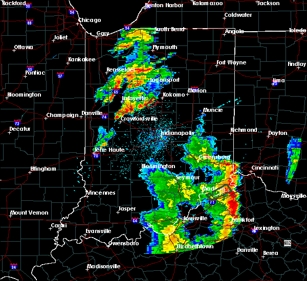Radar Image for Severe Thunderstorms near Michigantown, IN at 5/20/2017 8:39 PM EDT