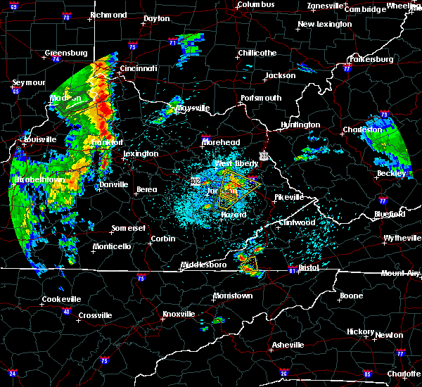 Radar Image for Severe Thunderstorms near Prestonsburg, KY at 5/20/2017 8:55 PM EDT