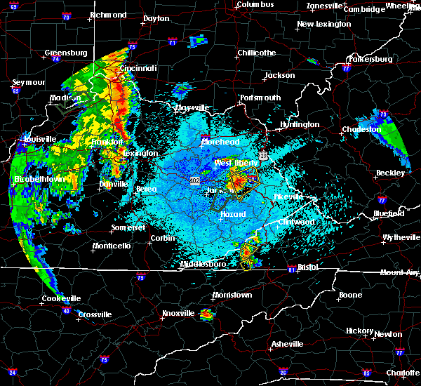 Radar Image for Severe Thunderstorms near Prestonsburg, KY at 5/20/2017 9:23 PM EDT