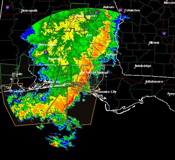 Radar Image for Severe Thunderstorms near Ponce de Leon, FL at 5/21/2017 12:25 AM CDT