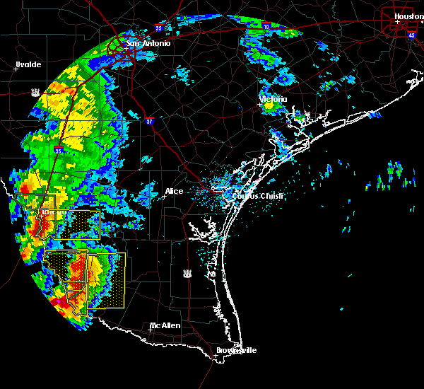 Radar Image for Severe Thunderstorms near Laredo Ranchettes, TX at 5/21/2017 7:34 PM CDT