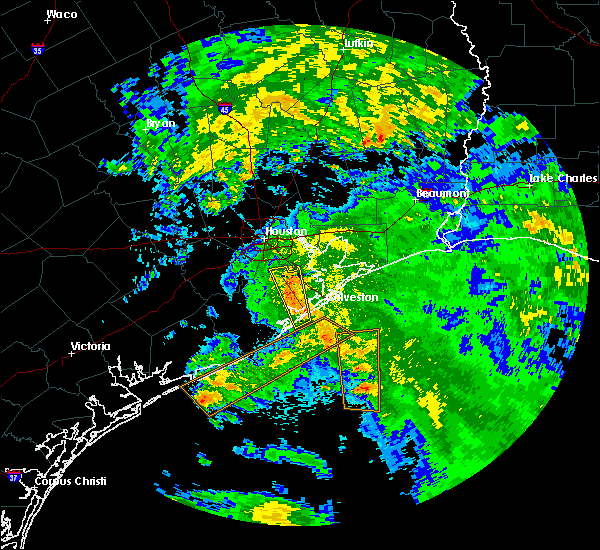 Radar Image for Severe Thunderstorms near Texas City, TX at 5/22/2017 11:02 AM CDT
