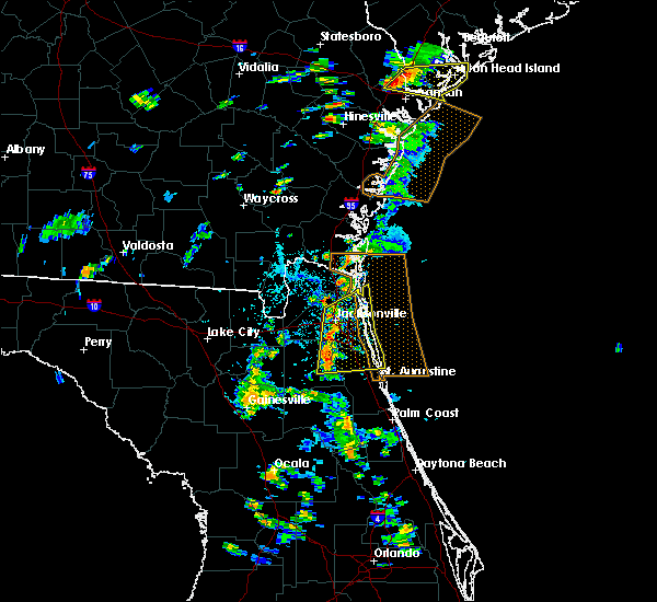 Radar Image for Severe Thunderstorms near Fleming Island, FL at 5/22/2017 4:33 PM EDT