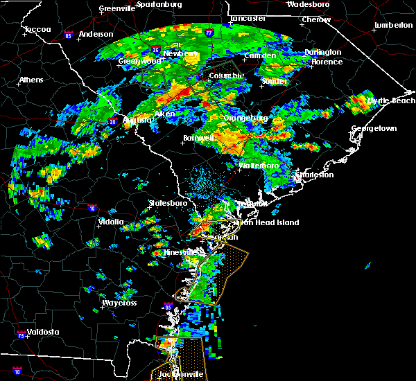 Radar Image for Severe Thunderstorms near Port Wentworth, GA at 5/22/2017 4:36 PM EDT