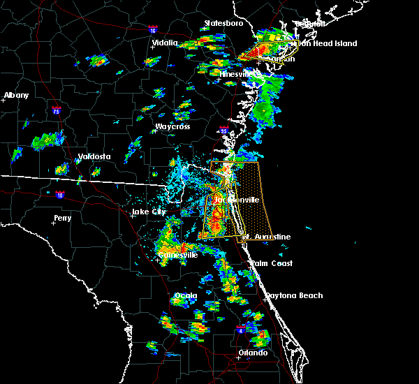 Radar Image for Severe Thunderstorms near Fleming Island, FL at 5/22/2017 4:48 PM EDT