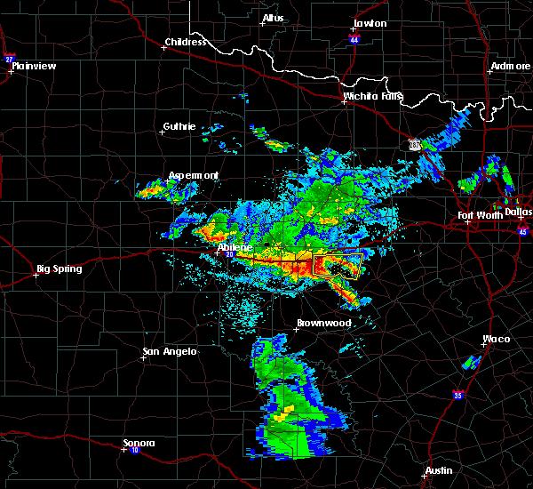 Radar Image for Severe Thunderstorms near Eastland, TX at 5/23/2017 1:57 AM CDT