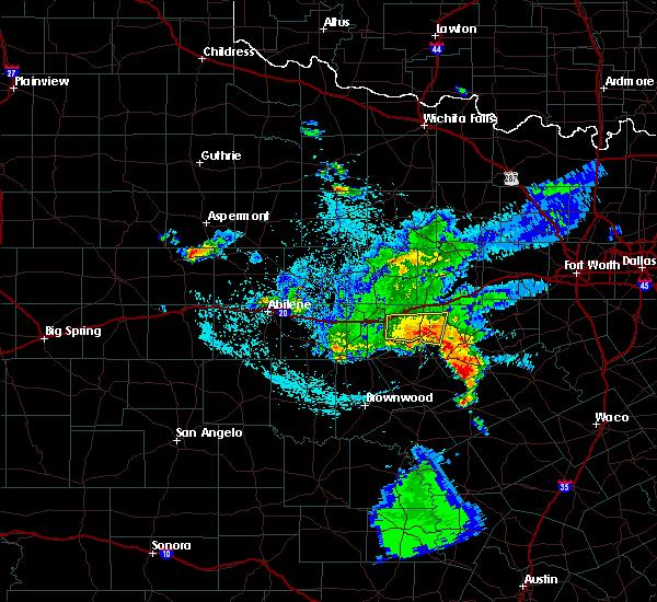 Radar Image for Severe Thunderstorms near Eastland, TX at 5/23/2017 2:24 AM CDT
