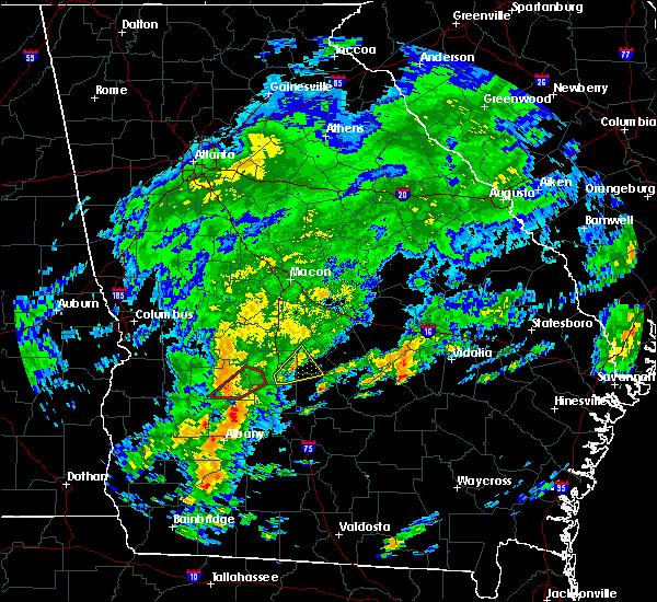 Radar Image for Severe Thunderstorms near De Soto, GA at 5/23/2017 1:14 PM EDT