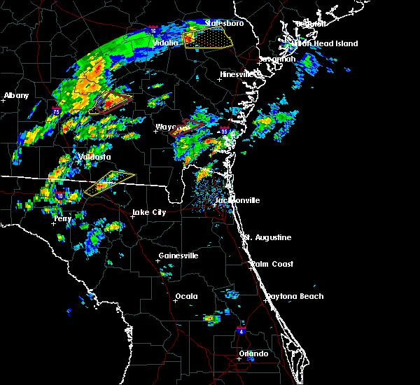 Radar Image for Severe Thunderstorms near Nahunta, GA at 5/23/2017 2:49 PM EDT