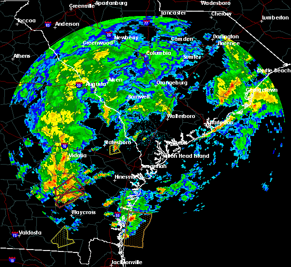 Radar Image for Severe Thunderstorms near Brooklet, GA at 5/23/2017 3:31 PM EDT
