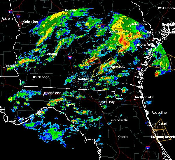 Radar Image for Severe Thunderstorms near Odum, GA at 5/23/2017 4:21 PM EDT