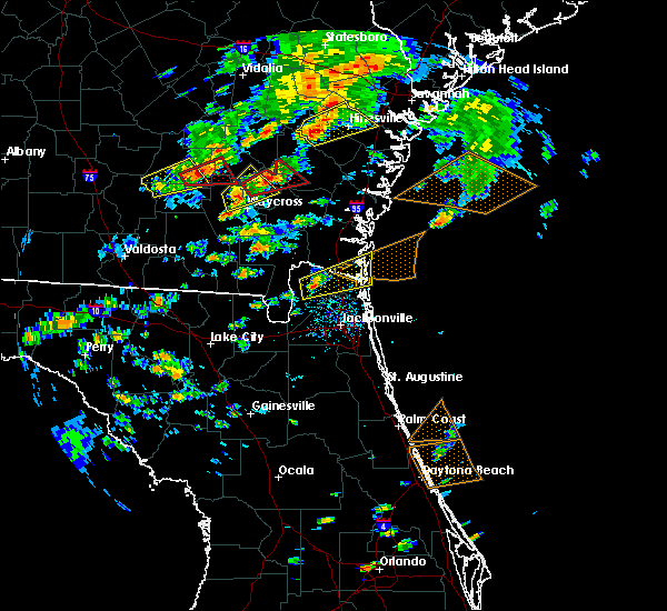 Radar Image for Severe Thunderstorms near Callahan, FL at 5/23/2017 4:36 PM EDT