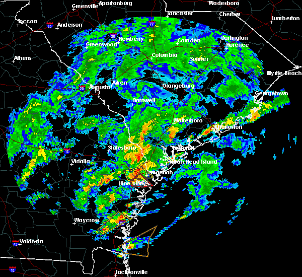 Radar Image for Severe Thunderstorms near Savannah, GA at 5/23/2017 5:22 PM EDT