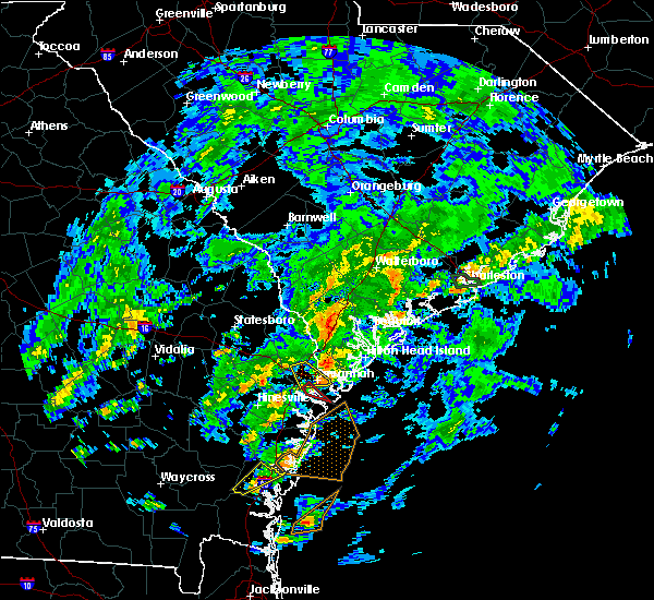 Radar Image for Severe Thunderstorms near Savannah, GA at 5/23/2017 5:41 PM EDT
