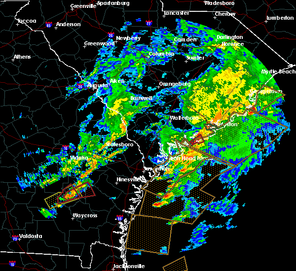 Radar Image for Severe Thunderstorms near Kiawah Island, SC at 5/23/2017 7:02 PM EDT