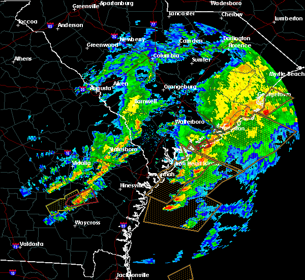 Radar Image for Severe Thunderstorms near Kiawah Island, SC at 5/23/2017 7:14 PM EDT