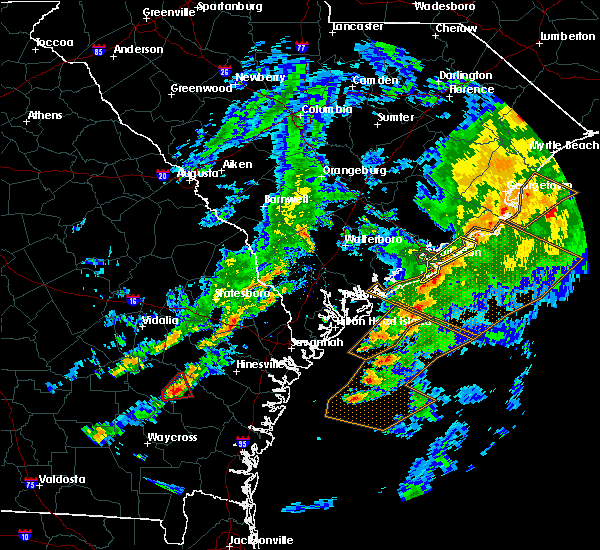 Radar Image for Severe Thunderstorms near Kiawah Island, SC at 5/23/2017 7:32 PM EDT