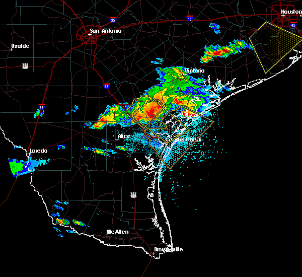 Radar Image for Severe Thunderstorms near Corpus Christi, TX at 5/23/2017 7:51 PM CDT