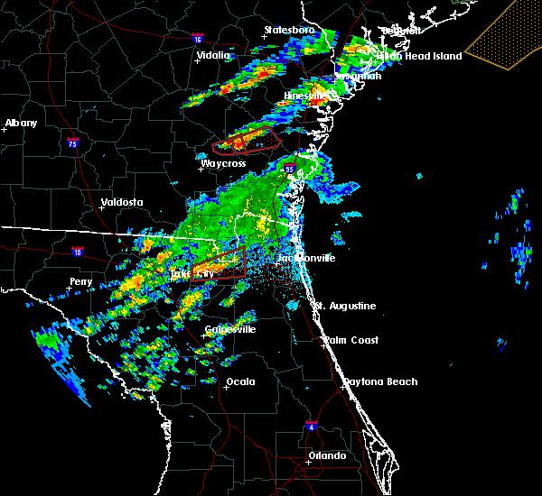 Radar Image for Severe Thunderstorms near Glen St. Mary, FL at 5/23/2017 8:57 PM EDT