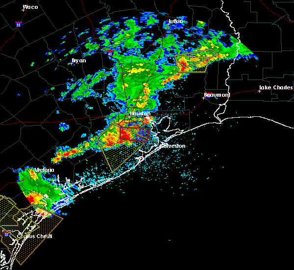 Radar Image for Severe Thunderstorms near Pasadena, TX at 5/23/2017 7:57 PM CDT