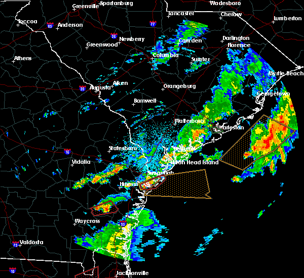 Radar Image for Severe Thunderstorms near Savannah, GA at 5/23/2017 9:10 PM EDT