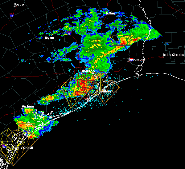 Radar Image for Severe Thunderstorms near Pasadena, TX at 5/23/2017 8:10 PM CDT
