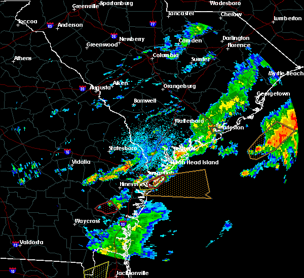 Radar Image for Severe Thunderstorms near Savannah, GA at 5/23/2017 9:29 PM EDT