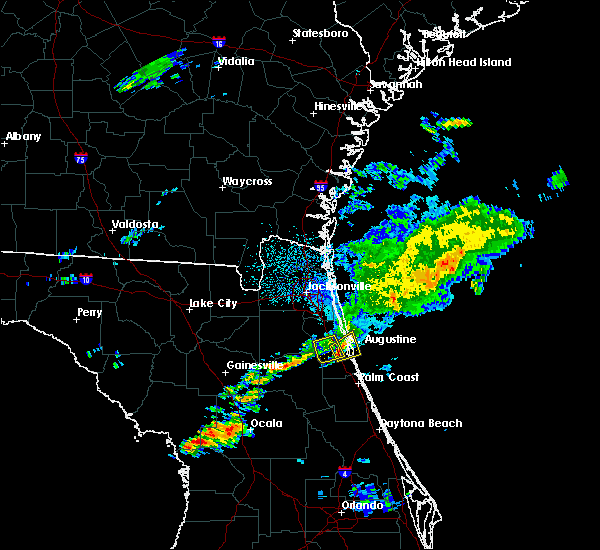 Radar Image for Severe Thunderstorms near St. Augustine South, FL at 5/24/2017 5:02 AM EDT