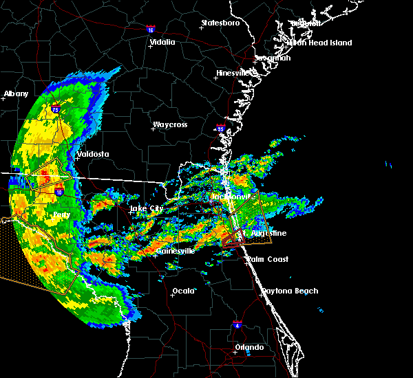 Radar Image for Severe Thunderstorms near St. Augustine South, FL at 5/24/2017 10:11 AM EDT