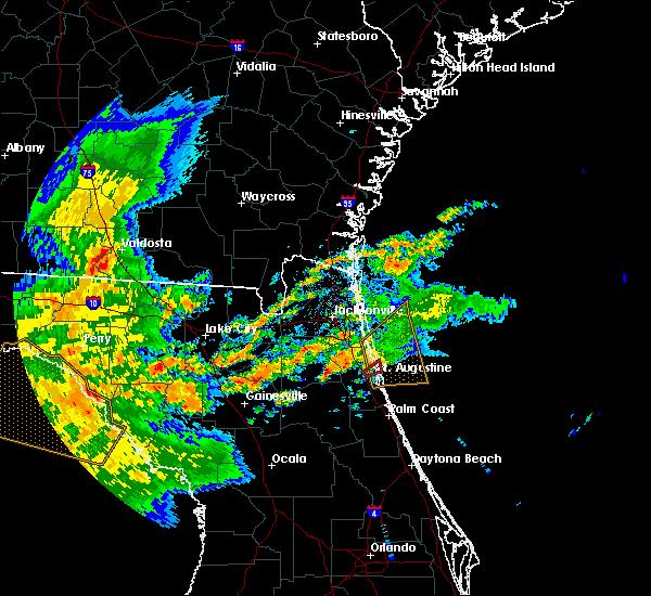 Radar Image for Severe Thunderstorms near St. Augustine, FL at 5/24/2017 10:27 AM EDT