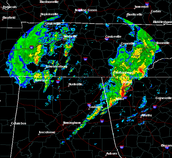 Radar Image for Severe Thunderstorms near Calhoun, GA at 5/24/2017 10:51 AM EDT