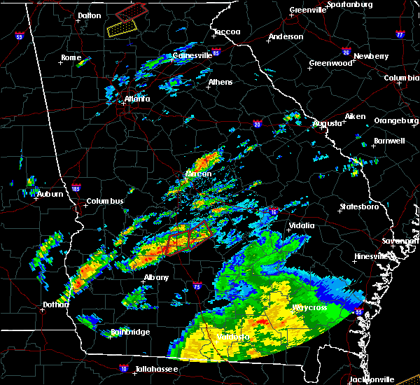 Radar Image for Severe Thunderstorms near Vienna, GA at 5/24/2017 11:34 AM EDT