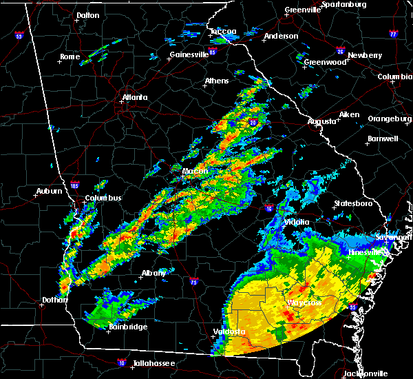 Radar Image for Severe Thunderstorms near Vienna, GA at 5/24/2017 12:22 PM EDT
