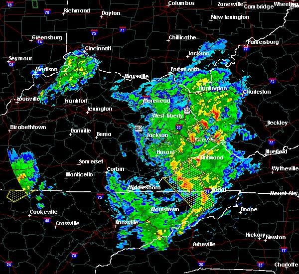 Radar Image for Severe Thunderstorms near Warfield, KY at 5/24/2017 1:41 PM EDT