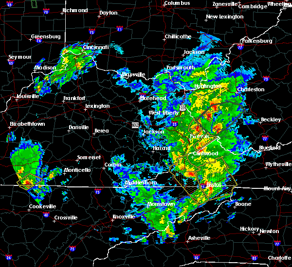 Radar Image for Severe Thunderstorms near Warfield, KY at 5/24/2017 1:58 PM EDT