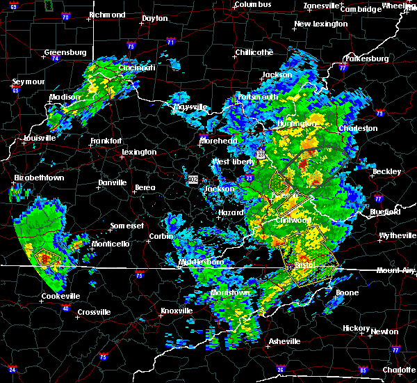 Radar Image for Severe Thunderstorms near Warfield, KY at 5/24/2017 2:08 PM EDT