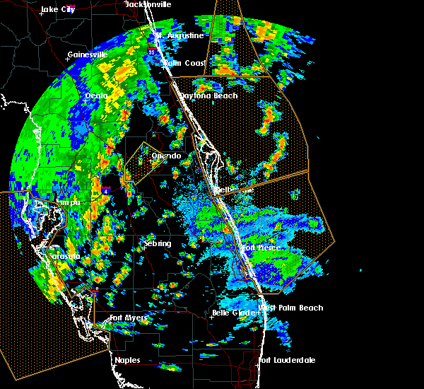 Radar Image for Severe Thunderstorms near Azalea Park, FL at 5/24/2017 3:32 PM EDT