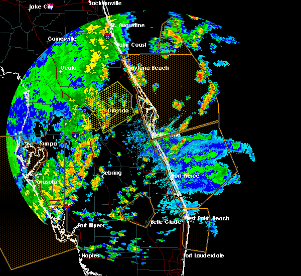 Radar Image for Severe Thunderstorms near Azalea Park, FL at 5/24/2017 3:51 PM EDT