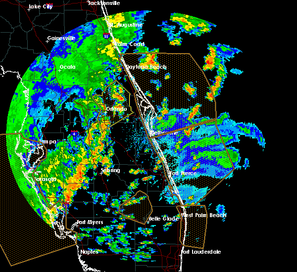 Radar Image for Severe Thunderstorms near Azalea Park, FL at 5/24/2017 4:16 PM EDT