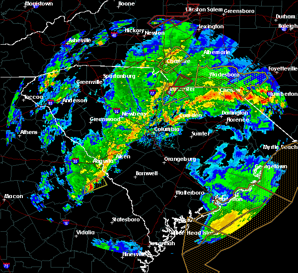 Radar Image for Severe Thunderstorms near Wingate, NC at 5/24/2017 4:19 PM EDT