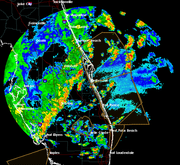 Radar Image for Severe Thunderstorms near Merritt Island, FL at 5/24/2017 4:58 PM EDT