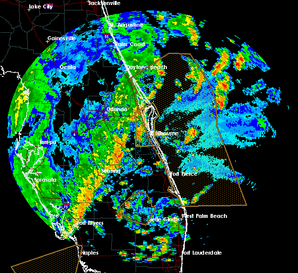 Radar Image for Severe Thunderstorms near Melbourne, FL at 5/24/2017 5:14 PM EDT