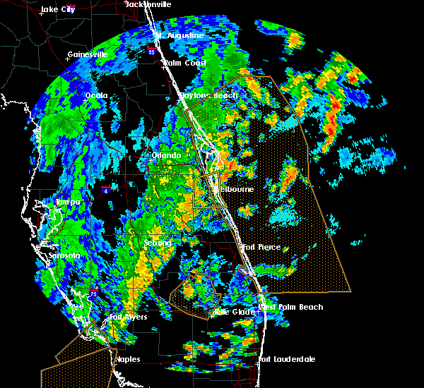 Radar Image for Severe Thunderstorms near Merritt Island, FL at 5/24/2017 5:36 PM EDT